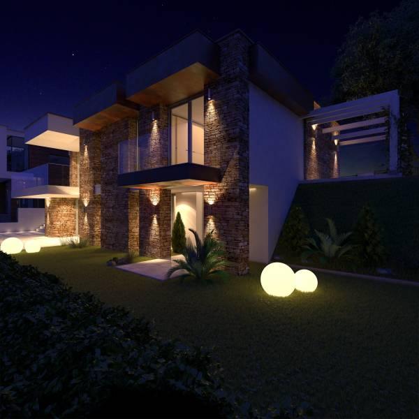 Villa in pietra su due piani for Piani a due piani in stile barndominio