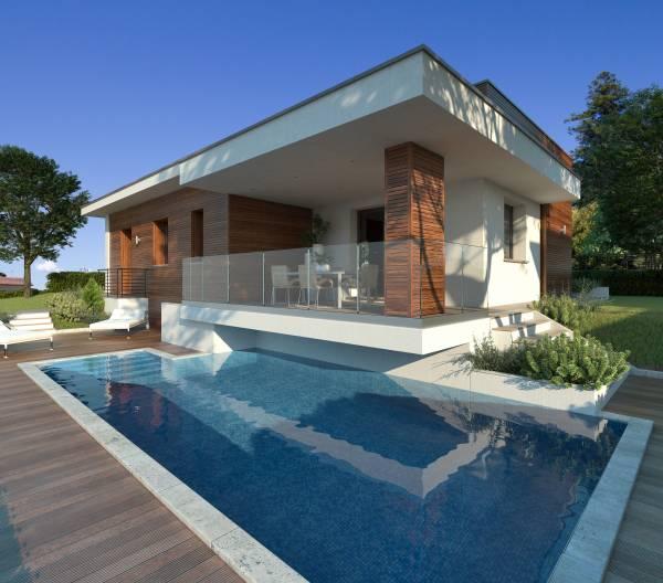 Villetta unifamiliare moderna for Ville moderne con piscina