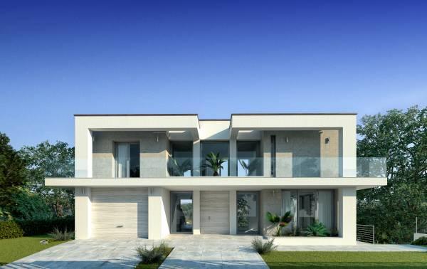Villa moderna con piscina for Prospetti ville moderne